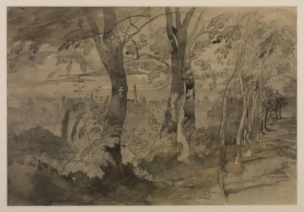 View of Bologna circa 1845-6 by John Ruskin 1819-1900