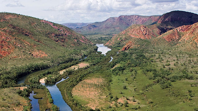 The Ord River in the Kimberley Wet Season, East Kimberley, Western Australia.