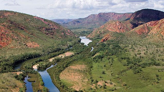 The Ord River in the Kimberley Wet Season, East Kimberley, Western Australia.